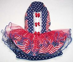 Pet Clothing Patriotic Party Dress July 4th by paulinesfashions, $35.00