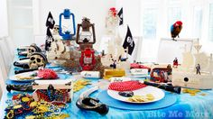 An Anchors Away Pirate Party #pirate #themeparty #kidsparty www.bitememore.com