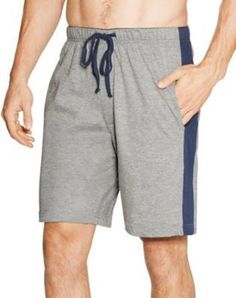 413a38723eb 2-Pack Hanes Men s Logo Waistband Striped Lounge Sleeping Shorts- COLORS -  S-5XL