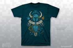 "Shovel Knight follows an ancient code of 8-bit honor.GarmentUnisex XS-2XAmerican Apparel BB401Women's S-2XBella 6004Unisex 3X-6XPort & Company 55Women's 3X-4XDistrict Made DM108LOur noble friends at Forward Printing used waterbase inks to make this Jon Kay design exactly as soft as the 50/50 shirts it's printed on. Each officially licensed shirt comes with a big, clear 3"" sticker."