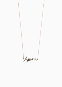 & Other Stories image 1 of Amour Necklace in Gold