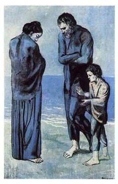 "Picasso ""Tragedy"" [Post Impressionism, Blue Period]"