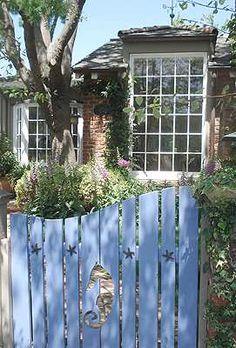 The beach garden gate.