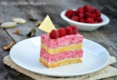 Dacquoise with raspberry and vanilla cream Romanian Food, Romanian Recipes, Dacquoise, French Desserts, Vanilla Cream, Mousse, Raspberry, Cheesecake, Good Food