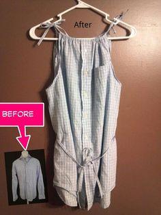 Pinterest inspired men's shirt refashion