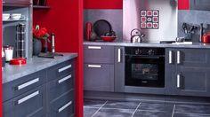 geneston nantes sud cuisine rouge et grise pinterest nantes salons and house - Cuisine Grise Et Rouge