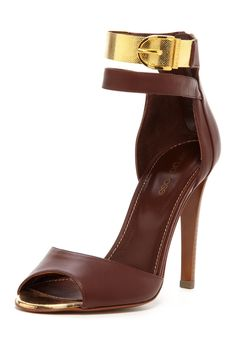 Sergio Rossi Peep Toe High Heel on HauteLook