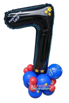 Balloon specialists like myself can do so much more with your number balloons.Why just have a floating single number when you can have a balloon display and make a feature out of the number balloon. 7th Birthday, It's Your Birthday, Birthday Ideas, Birthday Parties, Balloon Stands, Balloon Display, Number Balloons, Balloon Bouquet, Milestone Birthdays