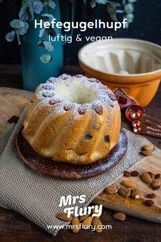 Elsässer Hefegugelhupf - Veganer Gugelhupf - Mrs Flury gesunde Rezepte Breakfast, Healthy Sweets, Healthy Desserts, Vegan Cake, Vegan Baking, Healthy Recipes, Finger Food Recipes, Morning Coffee