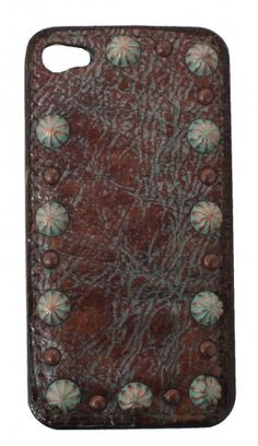 Dakota Tarnishes Brass Hard Phone Case by Double J Saddlery