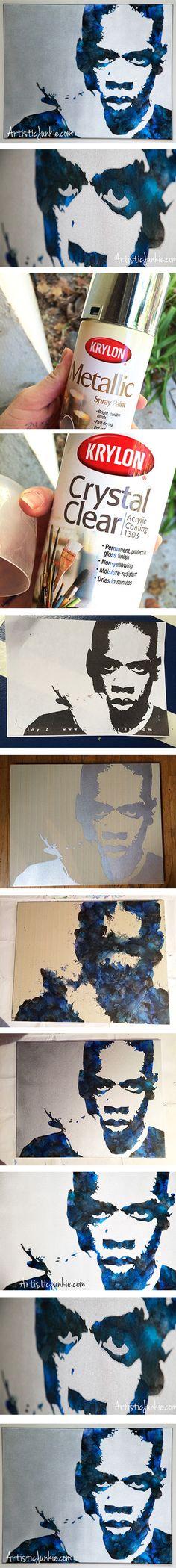 DIY Crayon Art Tutorial - Jay-Z Wax On Canvas...