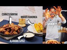 Egyáltalán nem bonyolult a kaja, amit most csinálunk: sütőben sült csirkeszárnyak, belemártva egy házi fehér BBQ-szószba, és ha mindezzel megvagyunk... Alabama, Tandoori Chicken, Bbq, Food And Drink, Make It Yourself, Ethnic Recipes, Youtube, Street, Kitchen
