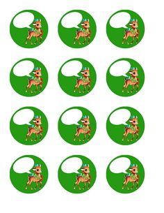 vintage Christmas reindeer- green by Free Pretty Things For You!, via Flickr