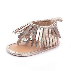 dd64f942b LIVEBOX Infant Baby Girls Moccasins Tassels Premium Soft Sole Anti-Slip  Summer Prewalker Toddler Sandals (M  months