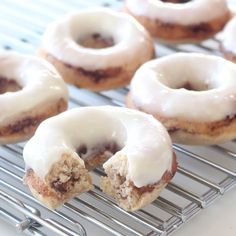 These doughnuts are the tastier, less sticky way to enjoy cinnamon buns for breakfast.