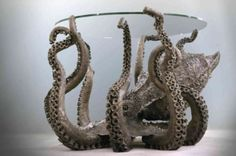 gaksdesigns:  Bronze octopus coffee table