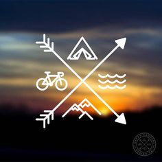 Car Window Decals, Car Decal, Laptop Decal, Happy Campers, Clipart, Kayaking, Vinyl Decals, Surfing, Logo Design