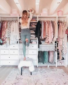 Attractive Dressing Room Design Ideas for Inspiration 26 - # Dressing Room # An . - Attractive Dressing Room Design Ideas for Inspiration 26 – - Wardrobe Room, Walk In Wardrobe, Wardrobe Closet, Wardrobe Design, Master Closet, Closet Bedroom, Wardrobe Furniture, Bedroom Storage, Ikea Closet