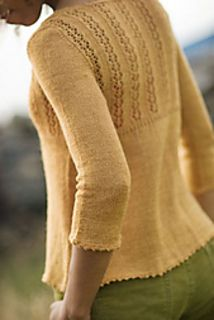 Laar by Gudrun Johnston - cardigan in lace weight silk/wool blend