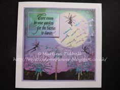 Lavinia Stamps Fairies, Imagination Crafts Sparkle Medium, Stencil, Quietfire Designs sentiment, fairy,