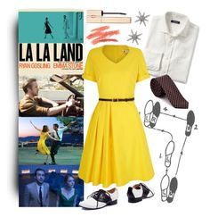 """""""La La Land"""" by beetlescarab ❤ liked on Polyvore featuring Lands' End, Yumi, Ben Sherman, Clarins, Miss Selfridge, modern, dance, movie, lalaland and losangeles"""