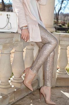 Lined Leggings Gold Sequin Lined with soft inside fabric, gorgeous sparkles and the amazing compliments are soon to follow you! Please allow up to 1 week for