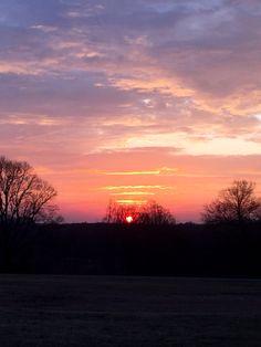 Sunrise on the farm