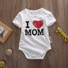 I Love Mom Infant One Piece