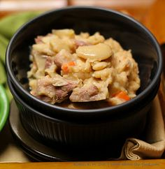 Ham & Lima Beans (Butter Beans) in Beer Broth