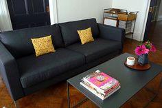 IKEA's Karlstad sofa in action.
