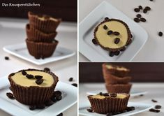 Coffe Cookie Cups with caramel coffee panna cotta