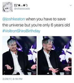 Shiro's Birthday / Josh Keaton