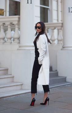 White knit from Zara, heels by Christian Louboutin | Johanna Olsson