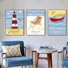 nowy nowoczesne a4 reprodukcja poster nordic minimalistyczny obraz cartoon ryb latarni ptnie malarstwo cienne dla dzieci pokj