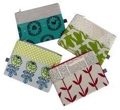 zipper pouches, diy zipper pouch, sewing tutorial, handmade gifts