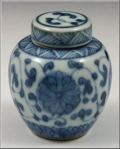 Fine Chinese Kangxi Period Miniature Porcelain Ginger Jar