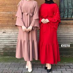 Hijab Style Dress, Modest Fashion Hijab, Modern Hijab Fashion, Muslim Women Fashion, Hijab Chic, Abaya Fashion, Modest Outfits, Fashion Dresses, Mode Abaya