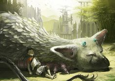 The Last Guardian art - Video gaming. Video Game Art, Video Games, Shadow Of The Colossus, Chef D Oeuvre, Pretty Art, Mythical Creatures, The Guardian, Amazing Art, Cool Art