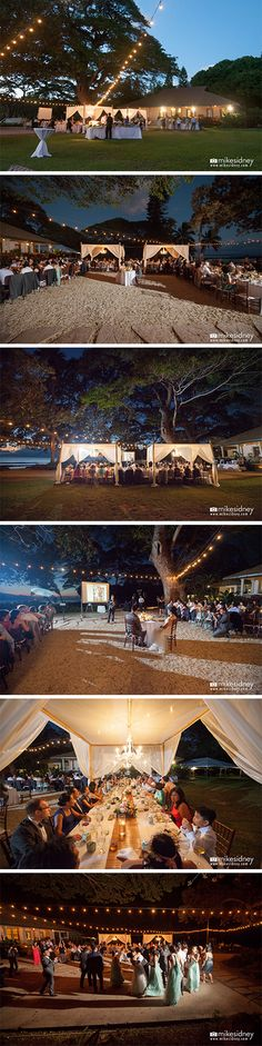 Maui wedding reception set up at Olowalu Plantation House. Photographed by Mike Sidney Photography. / www.mikesidney.com