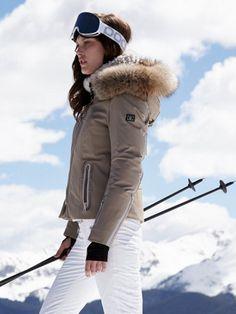 fiola-dtp sand jacket with fur - bogner - designers - Gorsuch