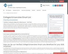List Of College Email Addresses  University And College Email