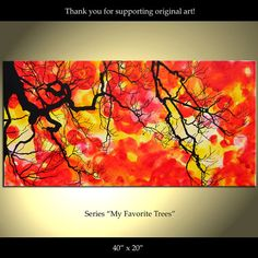 Tree Painting Flowers Original Trees