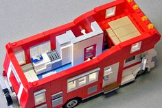 https://flic.kr/p/DZd4s5 | Lego 1976 Shasta Motorhome Interior 02 | Rebuilt the cab and interior to better reflect my actual 1976 Shasta motor-home.