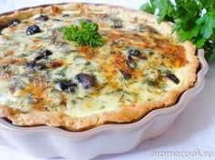 Киш с курицей и грибами Quiche Recipes, Pie Recipes, Chicken Recipes, Dessert Recipes, Cooking Recipes, Quiches, Buffet, Gourmet, Cafe Food