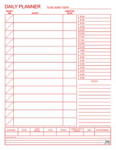 daily planner template my work pinterest planner template