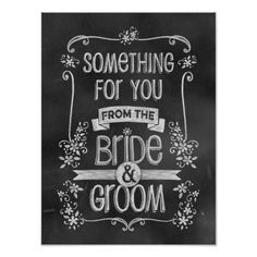 Charming Chalkboard Wedding Sign for Favor Table Posters