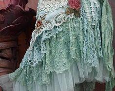 20%OFF wedding skirttattered skirt mori girl stevie nicks