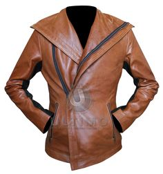 Giuliana Rancic Women's Fashionable Distressed Brown Geniune Leather Jacket  	It was Giuliana Rancic's childhood dream to become an anchorwoman, as she grew up back in Italy. One wonders if she could have foreseen the day that people would be eager to buy a limited edition Giuliana leather jack