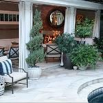 decks/patios - stone deck outdoor furniture outdoor fireplace mirror pool  Pool