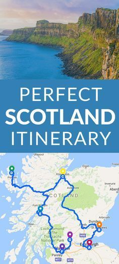 Perfect Scotland Itinerary #Scotland But I'd have to swing up through Aberdeenshire to look up relatives.